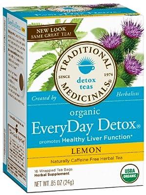 Traditional Medicinals Lemon Everyday detox herbal Tea - 16 ct - 2 pk from Traditional Medicinals