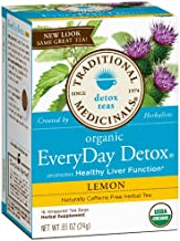 Traditional Medicinals Lemon Everyday detox herbal Tea - 16 ct - 2 pk