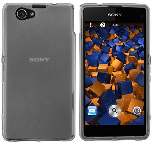 mumbi Hülle kompatibel mit Sony Xperia Z1 Handy Case Handyhülle, transparent schwarz