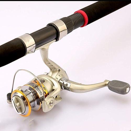 GXYWPF 2.1M,2.4M,2.7M,3.0M,3.6M FRP Canne à pêche télescopique et moulinets portables pour pêche en Eau Douce et Eau de mer, idéal pour Les déplaceHommests,SG7000