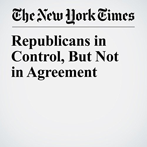 Republicans in Control, But Not in Agreement copertina