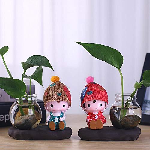 deendeng glas vaas glas transparant mini waterplanten tafel bloem decoratie-twee terrarium