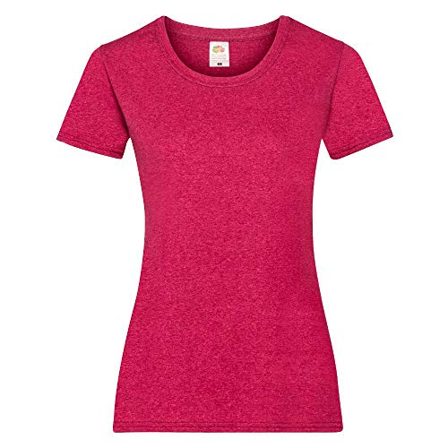 Fruit of the Loom - Lady-Fit T-Shirt 'Valueweight T' / Vintage Heather Red, XL