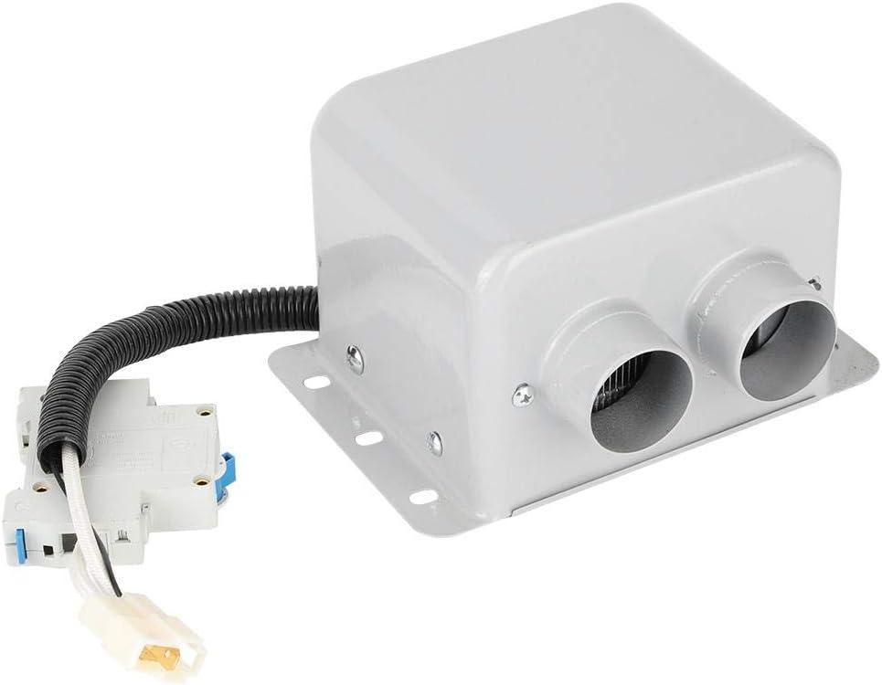 CHICIRIS - Calentador de Coche portátil de 800 W, 2 Orificios, Calentador eléctrico de Coche, Calentador de Invierno, desempañador de Ventana, desempañador, Blanco(24V)