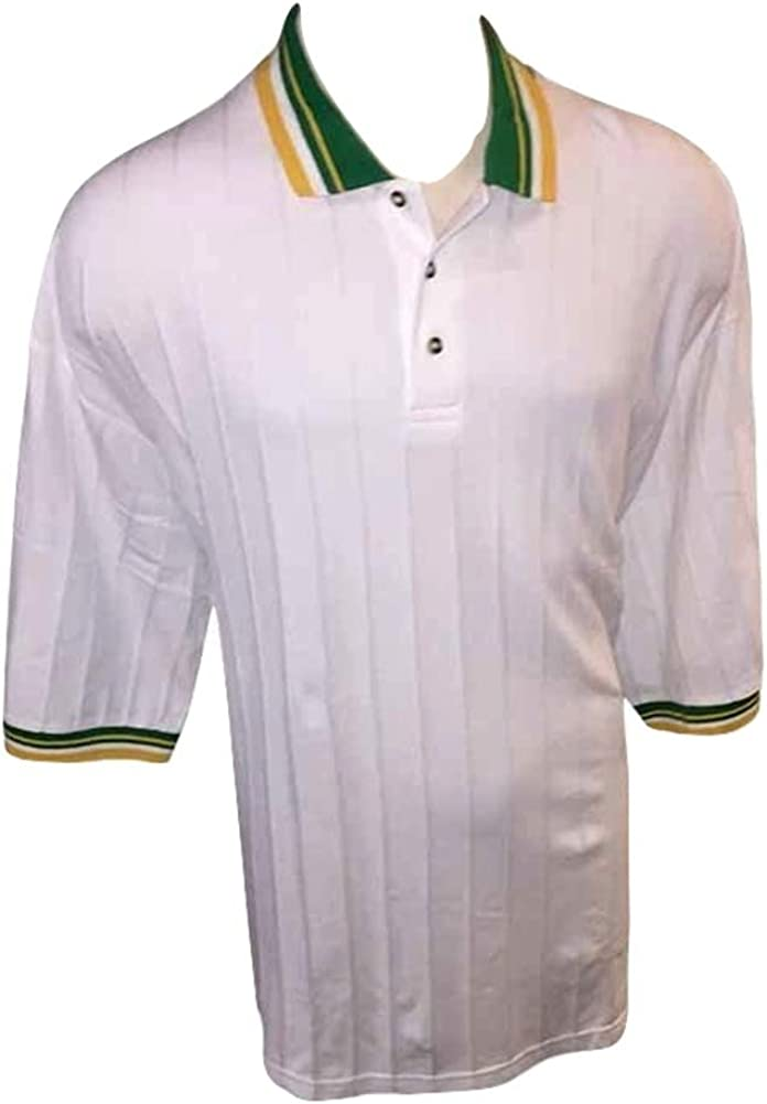 SeaPalm Big and Tall Maritime Style Piped Collar Combed Cotton Polo Shirts