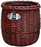 GLP Cubo de basura de mimbre tejido de pasto marino, cestas de almacenamiento de ratán, papelera redonda decorativa para el hogar, la cocina, la oficina (color: C, tamaño: 8L)