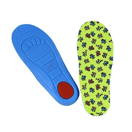 WDSFT Plantillas para Zapatos Desodorante Suela 1 par 3D niños Plantillas de niños Plantilla de Soporte de Arco Pies Planos Pies ortopédicos Sole para XO-Lees Corrector NIÑO INSERETE Pad DE ZAPA