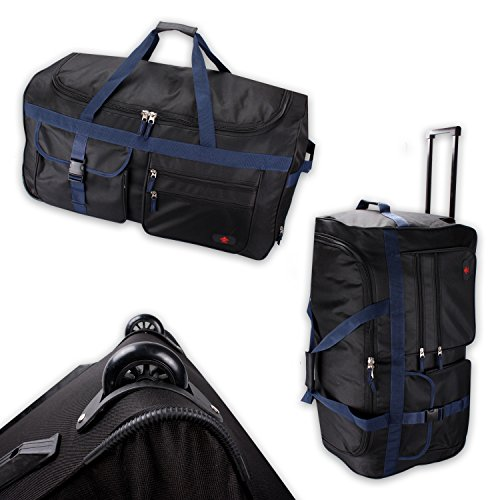 Trolley model BlackTravel-L 75cm koffer roltas sporttas 100l