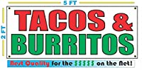 TACOS & BURRITOS All Weather Full Color Banner Sign by SuperSigns