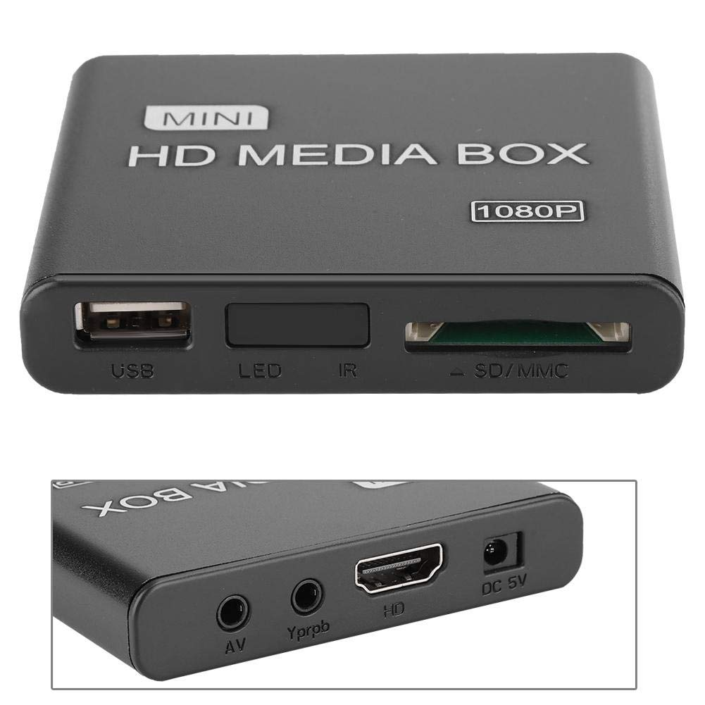Exliy Reproductor Multimedia, Mini Reproductor Multimedia Digital Full HD 1080P, Reproductor Multimedia HDMI, Reproductor de Video, Reproductor de automóvil/Publicidad Ultra portát(EU Plug): Amazon.es: Electrónica
