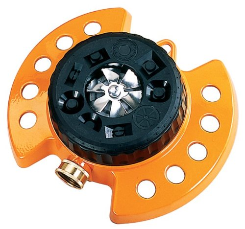 Dramm ColorStorm Turret 9-Pattern Sprinkler, Orange