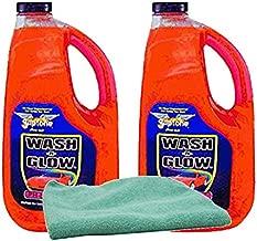 Gliptone Concentrated Wash 'N Glow Car Wash (64 oz.) Bundle with Microfiber Cloth (3 Items)