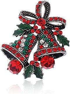 Wa el Broche Ramillete de Navidad de Forma de Campanas de Regalo Adornos Navideños