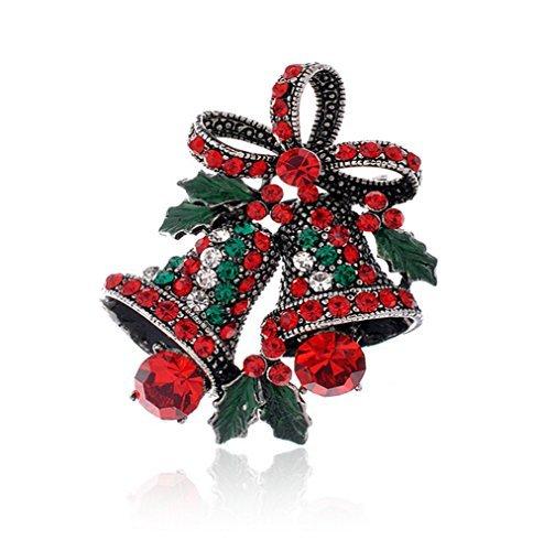 Da.Wa el Broche Ramillete de Navidad de Forma de Campanas de Regalo Adornos Navideños Encantador Lindo Pequeño Broche Joyería Moda