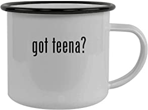 got teena? - Stainless Steel 12oz Camping Mug, Black