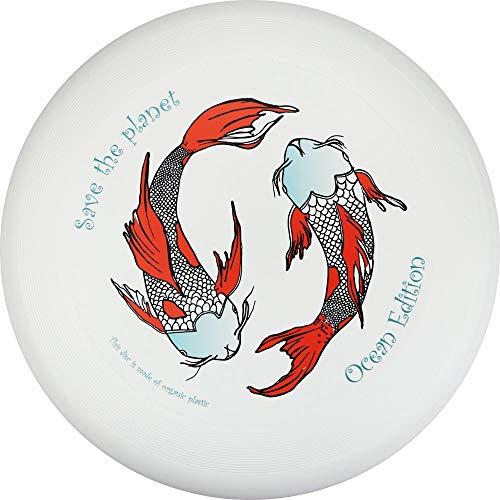 Eurodisc 175 g 4.0, frisbee da competizione in plastica biologica con traiettoria stabile oltre 100 metri, design Save the Planet Kois, edizione Ocean.