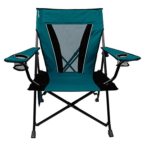 Kijaro XXL Dual Lock Portable Camping and Sports Chair, Cayman Blue Iguana
