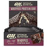 Optimum Nutrition ON Whipped Bar, Barritas Proteínas con Cobertura de Chocolate con Leche, Bajo en Azúcar, Rocky Road, 10 Barras (10 x 60 g)