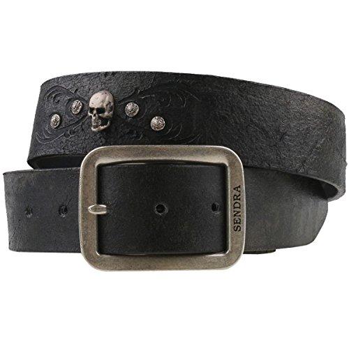 Sendra 1021 ceinture en cuir noir antique, Noir, 100