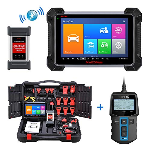 Autel Scanner MK908P, BT100 Battery Tester, Automotive Diagnostic Tool MK908P with J2534 Reprogramming, ECU Coding, Active Test, 25 Service Functions, Upgraded MS908P MaxiSys Pro