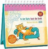 Om-Katze: In der Ruhe liegt die Kraft - Wochen-Kalender 2020: zum Aufstellen m. Illustrationen u. Zitaten, inspirierende Texte auf d. Rückseiten, Spiralbindung, 16,6 x 15,8 cm