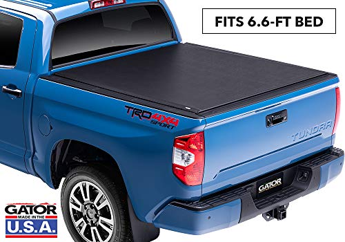Gator ETX Soft Roll Up Truck Bed Tonneau Cover | 53410 | fits 07-19 Toyota Tundra w/Out Track System, 6.6' Bed | Made in The USA