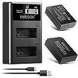 ENEGON LP-E12互換バッテリー(1200mAh 2個)+LCD充電器 Canon Rebel SL1、PowerShot SX70 HS、EOS M、EOS M10、EOS M50、EOS M100などデジタルカメラに対応