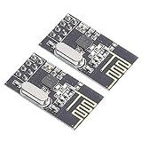 DEVMO 2PCS Compatible with Ar-duino NRF24L01+ 2.4GHz Wireless Transceiver Module New