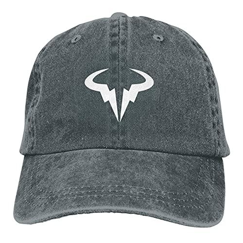 Yaxinduobao Ra-Fael Na-Dal R-AFA Logo Gorra de Vaquero Ajustable Gorra de Mezclilla para Mujeres y Hombres