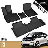 3D MAXpider All-Weather Floor Mats for BMW I3 2014 2015 2016 2017 2018 2019 Custom Fit Car Floor Liners, Kagu Series (1st & 2nd Row, Black)