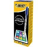Bic Cristal 2in1 Stylus Pen 1.0mm Tip 0.4mm Line Blue Ref 926388 [Pack 12]