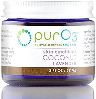 PurO3 Ozonated Coconut Oil with Lavender - 2 oz - Glass Jars