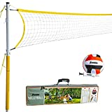 Franklin Sports 52641 Volleyball Set - Backyard Volleyball Net Set with Volleyball, Portable Net & Ground Stakes - Beach or Backyard Volleyball - Family