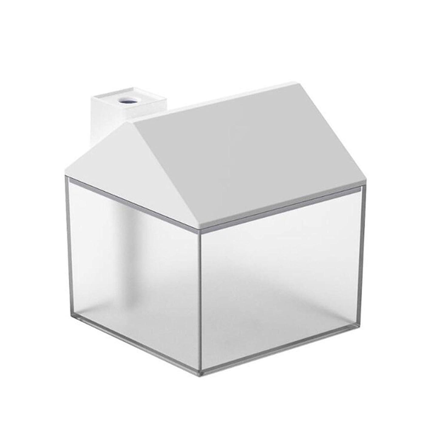 リーガンスーダン優遇空気を改善する 3 USB LEDライトベッドルームオフィス空気清浄機で1 250ミリリットルミニ加湿器超音波加湿器車で 家財道具 (Color : White)