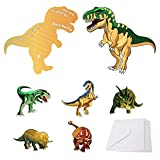 BeeGreen Dinosaur-Party-Supplies-Invitations with Envelopes for Kids Boys Girls Birthday 24 Pack, Dino Invites Cards for Dinosaur Theme Party