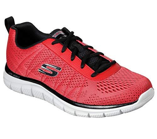 Skechers - Hombre Track - Moulton Zapatos, (Rojo/Negro), 39.5 EU