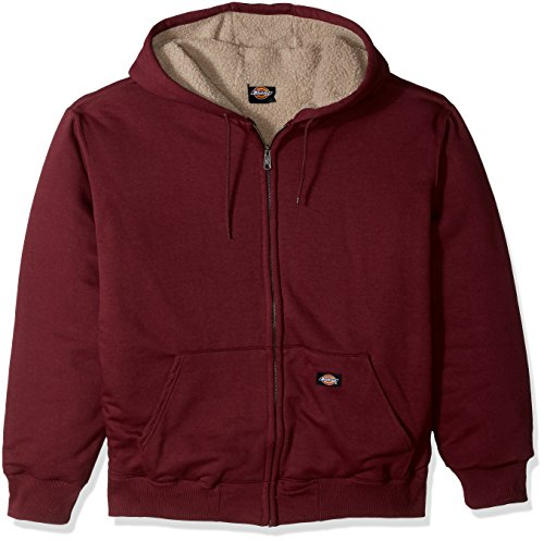 Dickies Men's Tall Sherpa Lined Fleece Big, Burgundy, XXX-Large