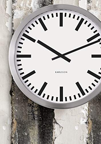 Karlsson Station Steel Polished Wall Clock