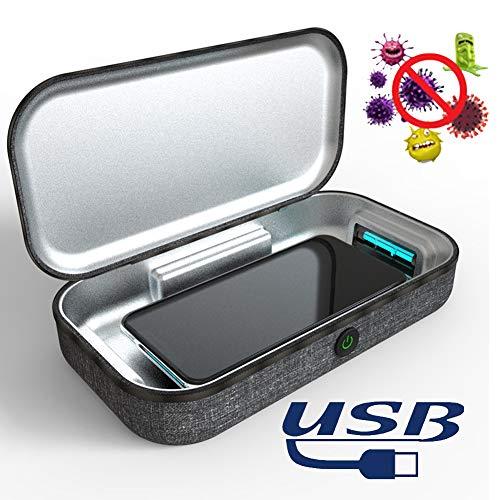 Esterilizador UV, Caja De Esterilizador UV Portátil, Matar Al 99.9% De Los Virus, Esterilizador De Limpiador De Luz UVC, para Gafas De Joyería para Teléfono