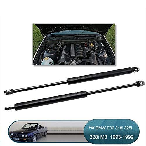 Amortiguadores de Gas 2pcs Frontal Frontal Cover Gas Spring Lift Supports Struts Car Barra Hidráulica para BMW E36 318i 325i 328i M3 / 51231960852 Muelle neumático