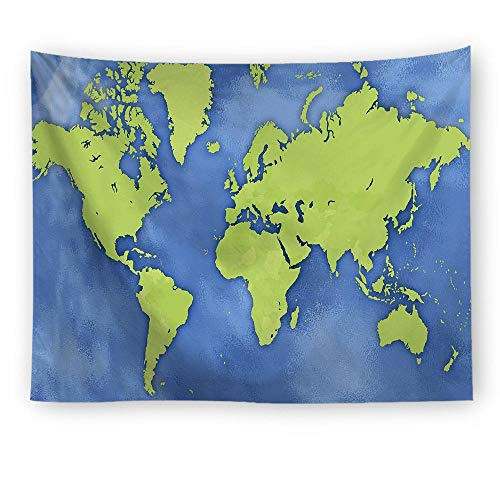 empty World Map, Color Pattern Wall Tapestry Wall Tapestry Wall Tapestry Star Tapestry Family Living Room Decoration,图片7,100X75Cm