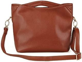 AMAZACER Women Top Handle Bag, PU Leather Handbag Shoulder Crossbody Bag for Ladies Shopping, Dating, Work, Travel (Color : Brown)