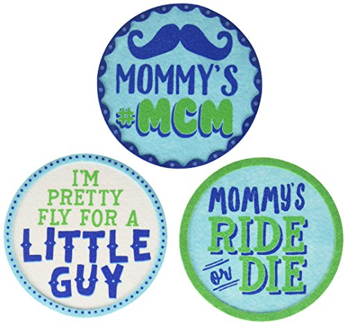 Pearhead Baby Belly Stickers, Blue