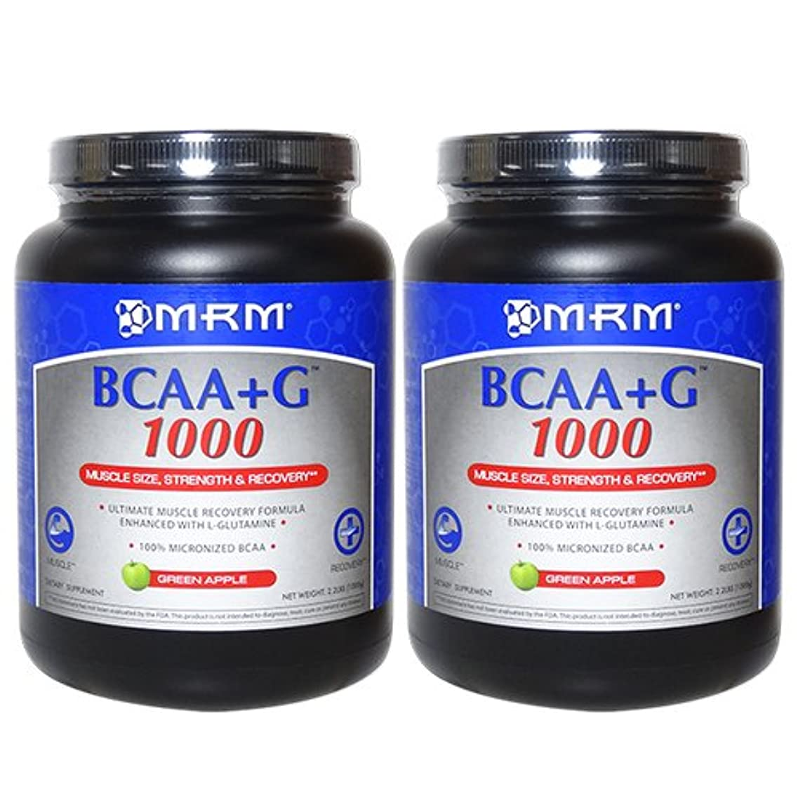 ハプニング師匠詐欺BCAA+G1000 グリーンアップル味 1kg [海外直送品]