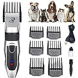 CXN Clipper Cortapelo para Perro Bajo Ruido Profesional Cortapelos para Mascotas Perros y Gatos USB Portátil Maquinillas Maquinilla de Afeitar