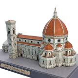 Italia Florencia Catedral Plegable Corte Mini Modelo de Papel 3D Casa Arquitectónico Papercraft DIY Adulto Artesanía Juguetes QD-161