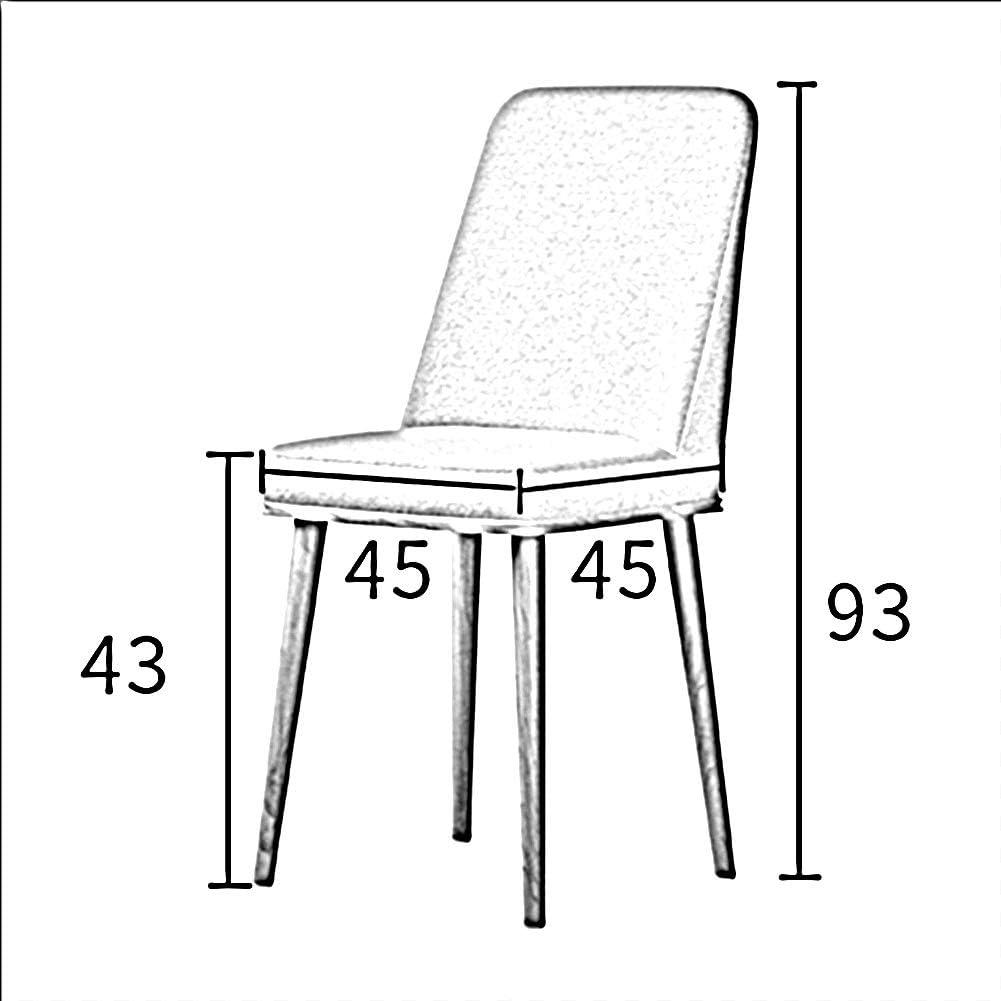 WGXX Table À Manger Chaise Mode Dossier Moderne Tabouret Loisir Métal Minimaliste Restaurant De Chaise Nordique Créatif Maison Adulte (Color : Yellow) Green