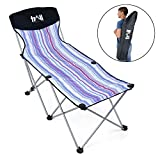 Trail Portable Folding Sun Lounger, Compact Lightweight Beach Chair, Camping, Garden, Shoulder Bag Included