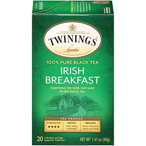 Twinings of London Irish Breakfast Black Tea Bags, 20 Count (Pack of 6) $8.55