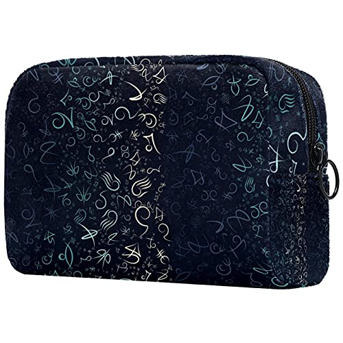 Trousse de Maquillage Organisation Rangement Cosmétique Portable Symbole Symbole Simple symétrique coloré pour Les Voyages Plein air